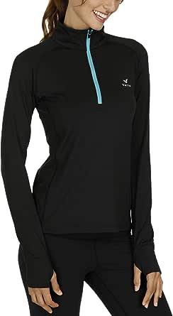 Vanis Women's Yoga Jacket Long Sleeve Athletic Run Fitness Jacket 1/2 Zip Pullover Tee