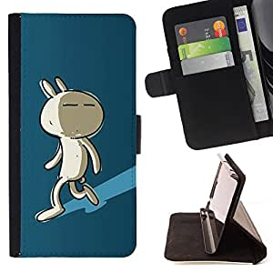 Jordan Colourful Shop - Cute Shadow Bunny For Sony Xperia Z2 D6502 - Leather Case Absorci???¡¯???€????€??????????&f