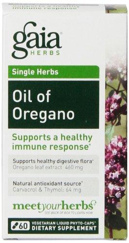 Gaia Herbs Oil of Oregano Liquid Phyto-Capsules, 60 - Prices Capsule Sun