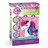 B Me DIY Unicorn Latch Hook Kit for Girls - Mini Rug Sewing Set with 15 Colorful Yarn Bundles, Color-Coded Canvas, DIY Grils Bedroom Décor Idea Perfect Birthday & Gift Age 6+