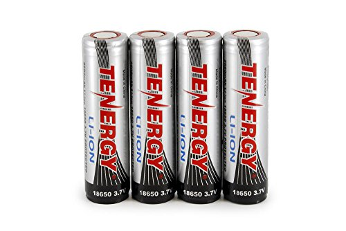 Combo: 4 PCS Tenergy Li-Ion 18650 Cylindrical 3.7V 2600mA...