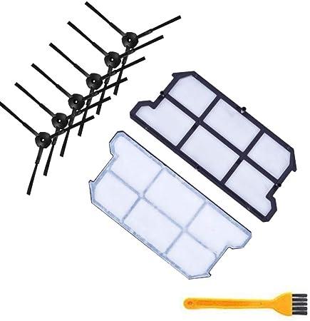 SODIAL 6X Kit de Filtro de Polvo Hepa Cepillo Lateral 2X para ...