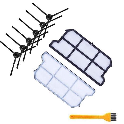 WOVELOT 6X Kit de Filtro de Polvo Hepa Cepillo Lateral 2X para ...