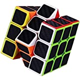 AdiChai Multicoloured Carbon Layered Sticker-ed 3X3 Neon Magic Puzzle Speed Cube - 3 by 3, 3 X 3