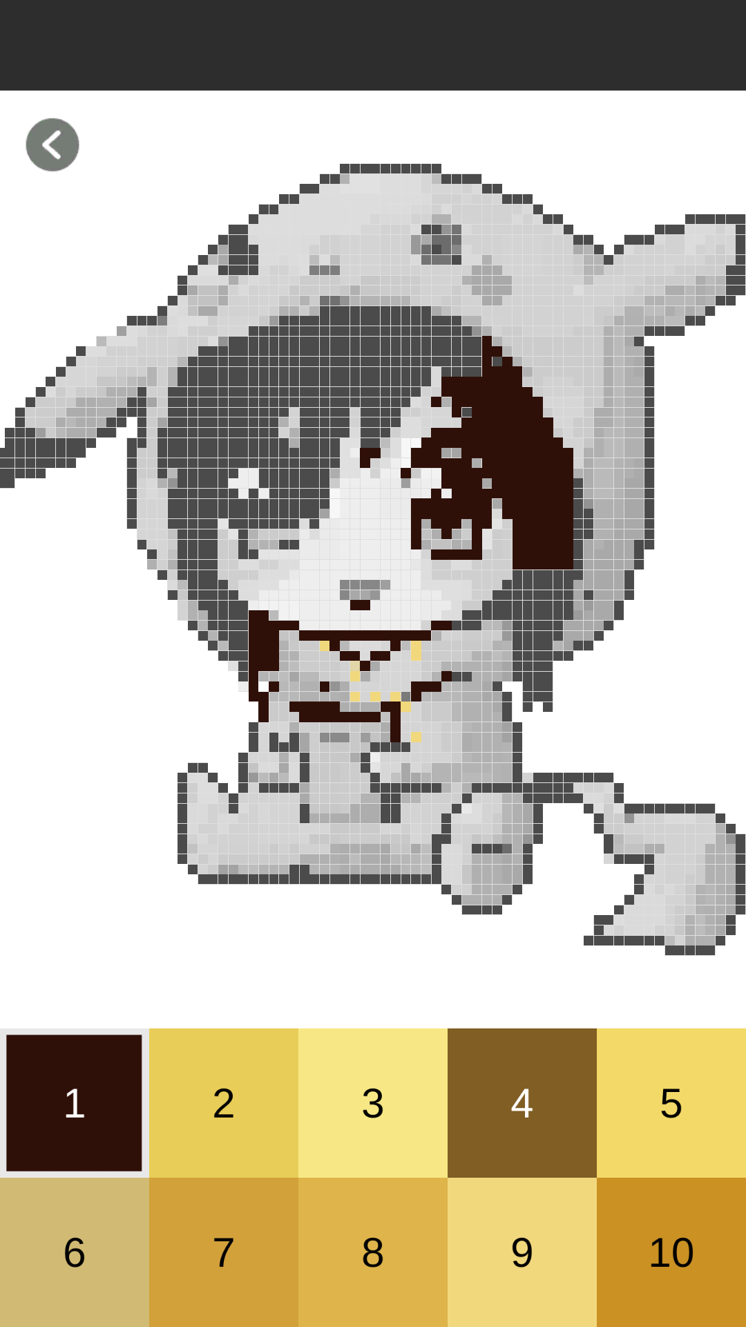 Anime Color By Number Sandbox Coloring - Pixel Art: Amazon ...