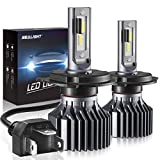 H4 9003 HB2 Led Headlight Bulbs, SEALIGHT Upgraded Super Bright 24x CSP Led Chips Headlight Kit -Hi/Lo Beam 6500LM 6000K White (Pack of 2): more info