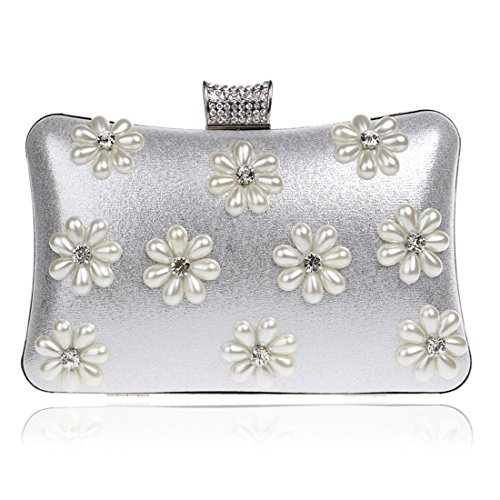 Handbags Bag Evening Purse Women's Clutch Color Silver Shoulder Luxury KERVINFENDRIYUN Silver Ladies Banquet Crossbody Snowflake PYxwB
