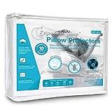 Ergonomic Sleep Erpp -3020Q2 Premium Hypoallergenic 100% Waterproof Terry Cotton Pillow Protector/Encasement (2 Pack), Queen