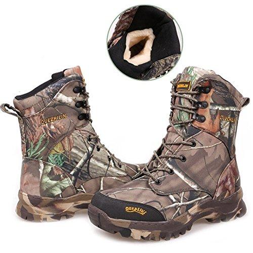 DXdesign Men Camouflage Winter Waterproof Desert Combat Boots Jungle Snow Outdoor Hunting Boot