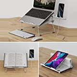 2 in 1 Laptop Notebook Stand with Phone Stand