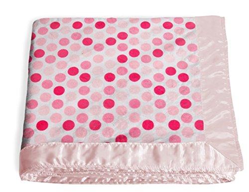 Veeshee Customizable Dreamy Blanket with Trim - Bubblegum/Pink (Bubble Gum Pink Satin)