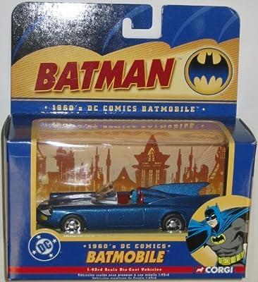 1960s DC Comics Batmobile 1//24 Scale Die-Cast Vehicle Corgi 77508