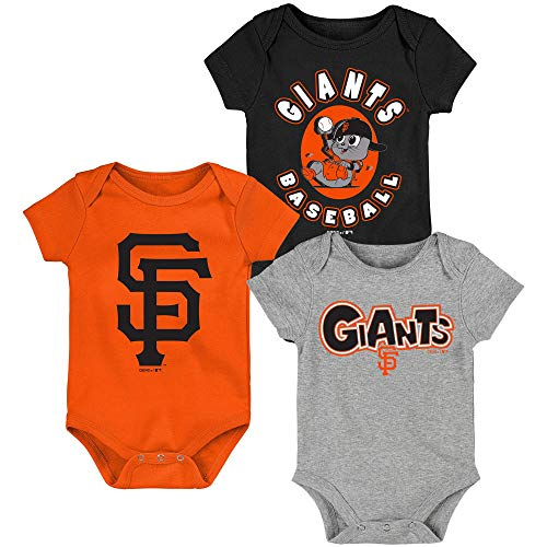 MLB Newborn Infants Everyday Fan 3 Piece Bodysuit Creeper Set (3/6 Months, San Francisco Giants)