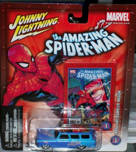Johnny Lightning The The The Amazing Spider-man Spiderman Die Cast 1960's Amc Rambler Wagon by Johnny Lightning b44392