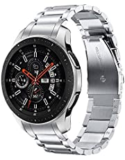TRUMiRR No Gap Band for Galaxy Watch 46mm / Gear S3 with Solid Clips, Quick Release Stainless Steel Watchband Hand Detach Strap Wristband for Samsung Galaxy Watch 46mm R800/Gear S3 Classic/Frontier