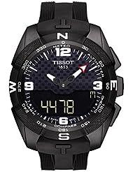 Tissot Mens T-Touch Expert Swiss Quartz Titanium and Silicone Dress Watch, Color:Black (Model: T0914204705701)