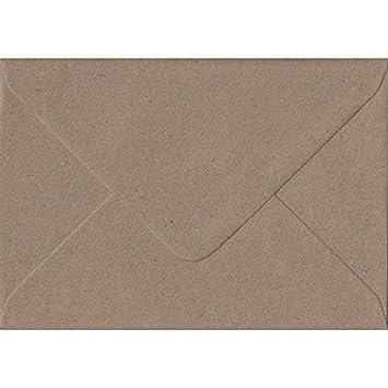 50 sobres moteados de papel kraft reciclado, de Cranberry Card Company - Varios tamaños, color marrón C5 (162x229mm)