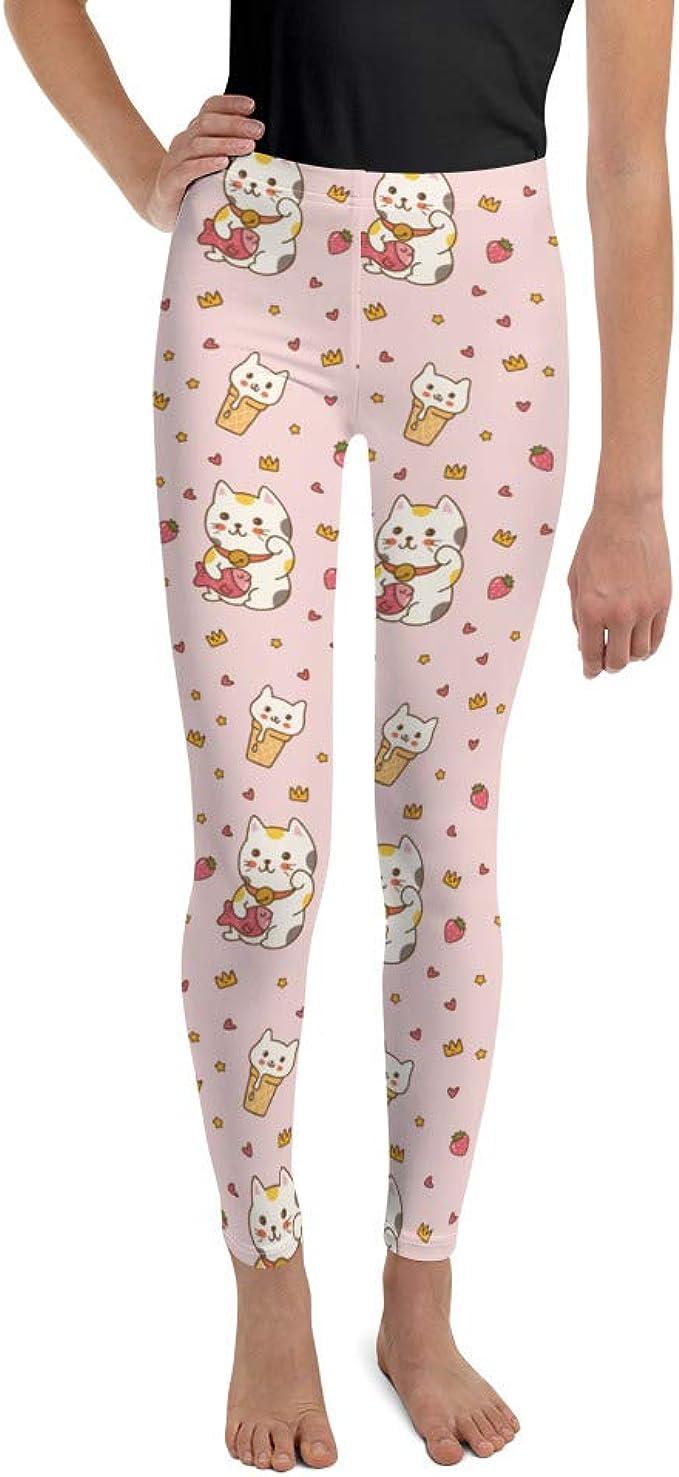 Pink Hearts Girls /& Matching Mom Women Leggings Back To School Love Cats