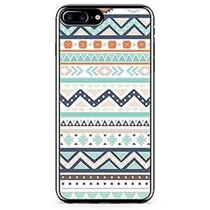 iPhone 8 Plus Transparent Edge Phone case Aztec Pattern Phone Case Chevron Pattern iPhone 8 Plus Cover with Transparent Frame
