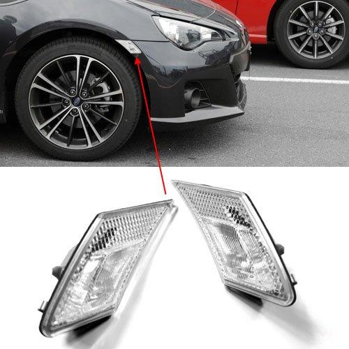 Clear Front Side Marker (JDM Crystal Clear Front Bumper Side Marker Lights for Scion FR-S / Subaru BRZ ZC6)