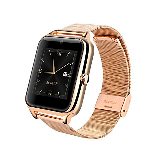 Amazon.com: LENCISE New L1 Smart Watch Phone NFC 2G Internet Bluetooth Wearable Devices Support SIM Card TF Card Smartwatch for Apple Android (Silver): Cell ...