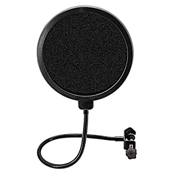 Microphone Pop Filter Swivel with Double Layer Sound Shield Guard