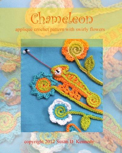 Susan's Chameleon Appliqué Crochet Pattern - Applique Patterns Animals