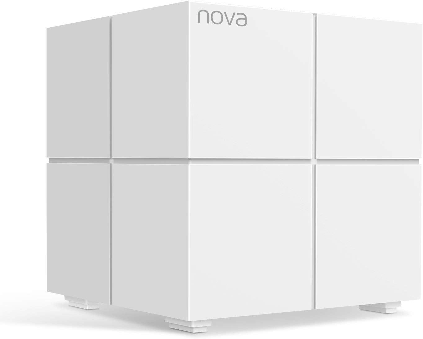 Tenda Nova MW6 Sistema Mesh WiFi hasta 165m2 de cobertura para todo el hogar (Reemplaza Router y Repetidores Wifi), 2 Puertos Gigabit, Control ...