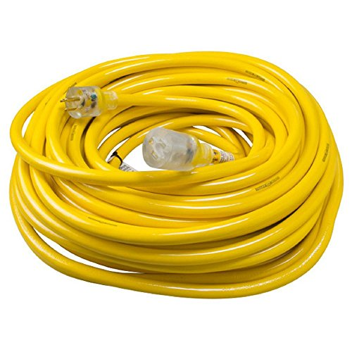 Yellow Jacket 2806 Contractor Extension Cord with Lighted End, 100 Foot from Yellow Jacket