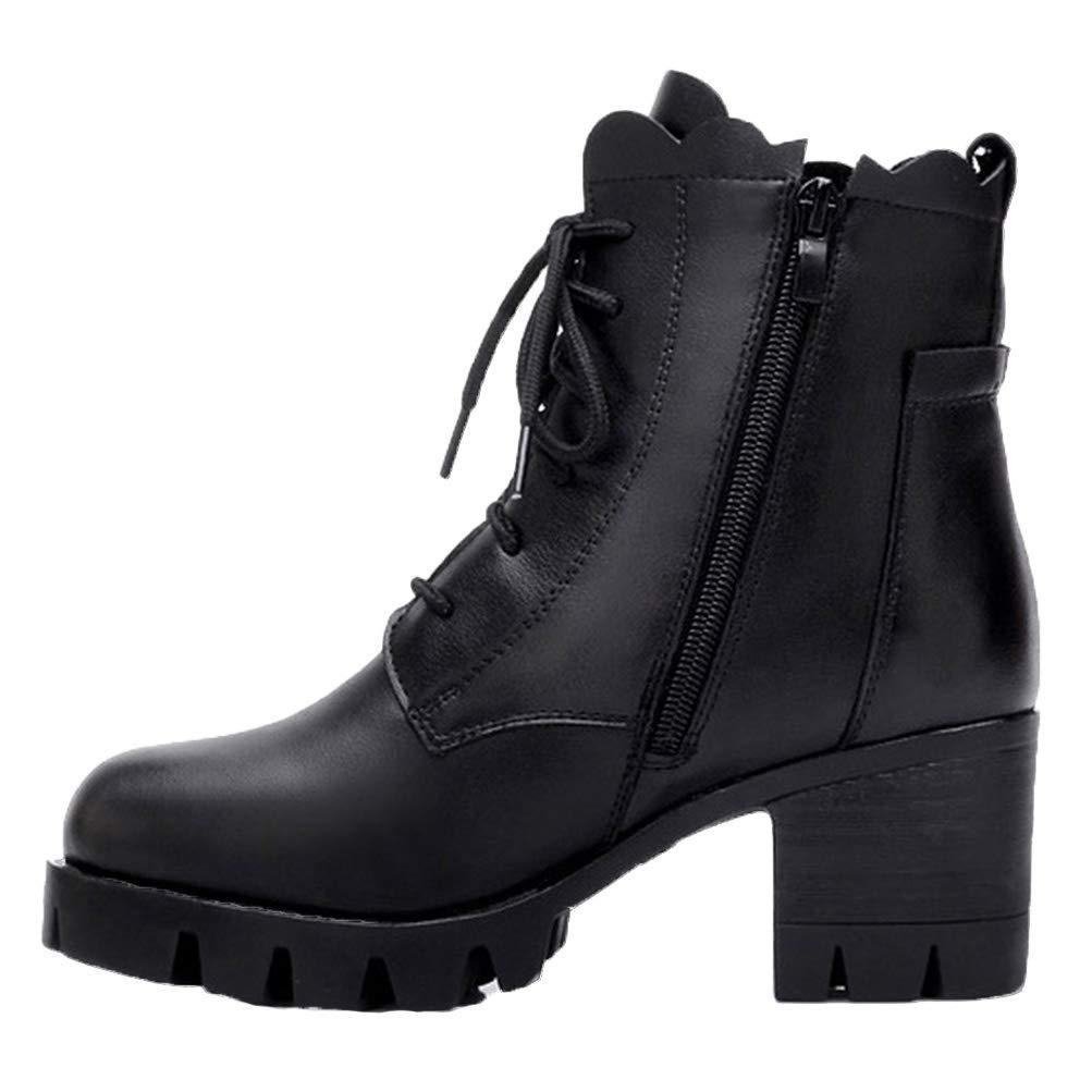 Frauen Winter lace up high Heels plattform warme Schuhe Kurze plüschpumpen echtes Leder Gericht Schuhe quadratische Ferse knöchel Schnee Stiefel