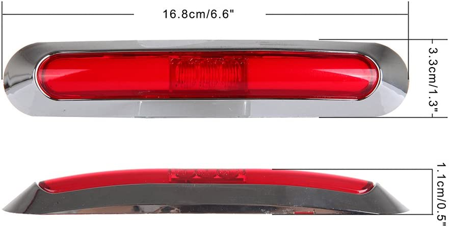 cciyu 4Pcs Side Marker Light Tail Light 12V-24V Sealed Red Light Clearance Lamp Replacement fit for Truck Trailer Van