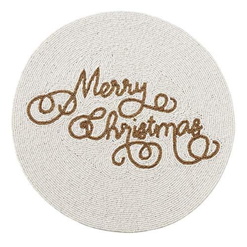 Beaded Skirt Bella (Fennco Styles Holiday Stunning Glass Beaded Merry Christmas 15