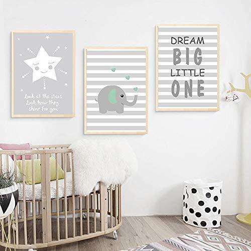 UrbanStyle Boutique Premium Nursery Print Canvas Art (Set of 3-UNFRAMED) 12