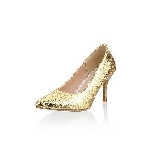 BalaMasa pour femme tirer sur massif de haute talons pompes Chaussures   Amazon.fr  Chaussures et Sacs f79c0d0e45f6