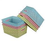 Nicesh Plastic Storage Baskets, Set of 6