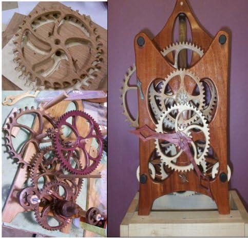 Woodline USA Deluxe Wood Gear Clock Kit w Cherry Wood Kit