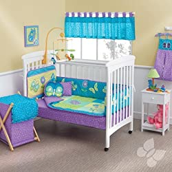 Cunero Fantasia Butterfly Crib Bedding Set and Accessories