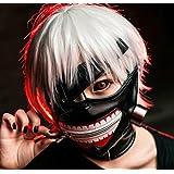 Sunkee Tokyo Ghoul Kaneki Ken Cosplay Masque Halloween Party Masque Refroidir Prop Zipper