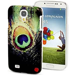 Generic Peacock Feather Pattern Hard Back Rear Case Shield Cover for Samsung Galaxy S4 i9500