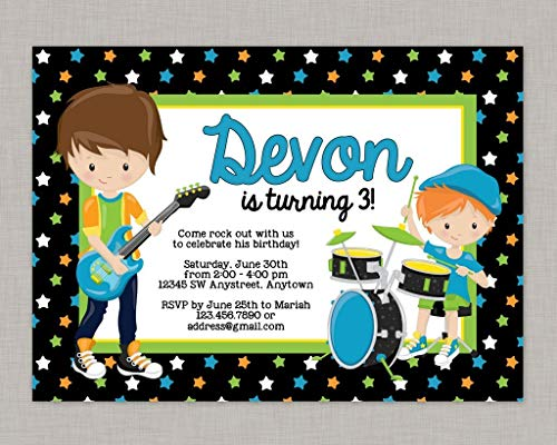 Rock Star Birthday Invitations (Olga212Patrick Rock Star Invitation Boy Rock Star Invitation Rock Star Birthday)