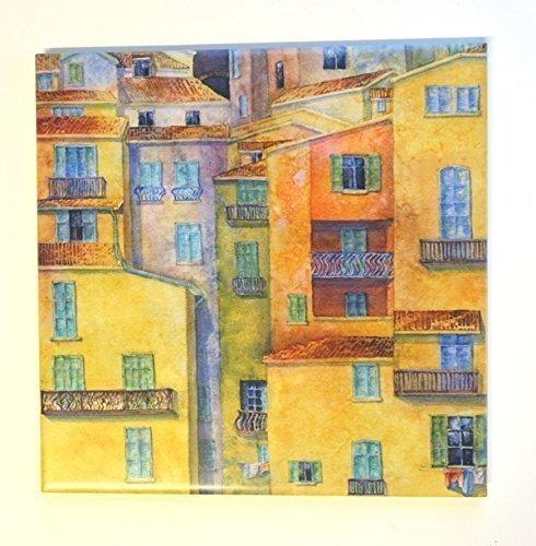 Italy Art Tile Trivet Original Elvira Para Art
