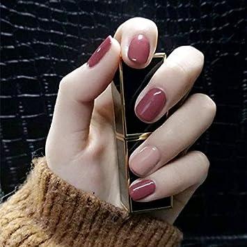 Amazon.com: Skyvan 24 piezas de uñas postizas de color puro ...