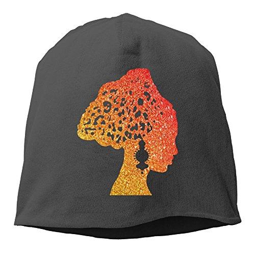 XVintageSkullCap Fashionable African Woman Vintage Earrings Scarf Women/Men Wool Hat Soft Stretch Beanies Skull Cap - Swim Discount Caps