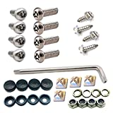 Anti Theft License Plate Screws- Tamper Resistant 304 Stainless Steel Plate Screws, 1/4-20 x 1\
