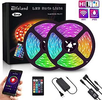 2-Pack Elfeland RGB LED Strip Light
