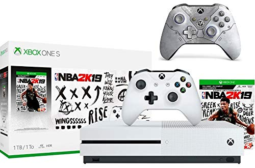 Microsoft Xbox One S 1TB NBA 2K19 Bundle + Gears 5 Kait Diaz Limited EditionWireless Controller   Include:Xbox One S 1TB Console ,NBA 2K19 Full-Game, Wireless Controller