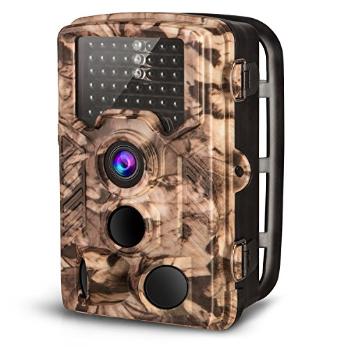 "AIMTOM Trail Hunting Camera 16MP Image 1080P Video 46Pcs IR LEDs Infrared 0.2S Trigger Time Waterproof Night Vision 120° Wide Angle Time Lapse 2.31"" LCD Screen Scouting Ghost Game Stealth Wildlife Cam"