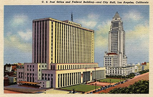 (U. S. Post Office, City Hall, and Federal Building (16x24 SIGNED Print Master Giclee Print w/Certificate of Authenticity - Wall Decor Travel Poster))