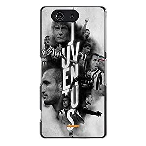 Great Graceful Juventus Football Club Back Skin Case for Sony Xperia Z3 Compact Mini Juventus FC Pattern Case