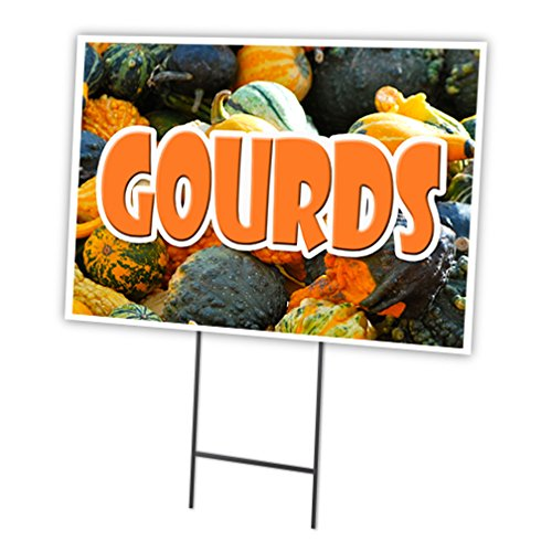 "GOURDS 18""x24"" Yard Sign & Stake outdoor plastic coroplas..."